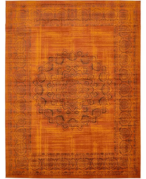 Bridgeport Home Linport Lin5 Terracotta Area Rug Collection