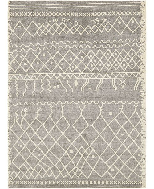 Bridgeport Home Fio Fio2 Gray Area Rug Collection