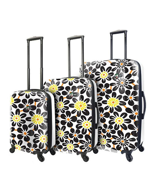 Mia Toro ITALY Rekko Art Flower Hardside Spinner 3-Pc. Luggage Set