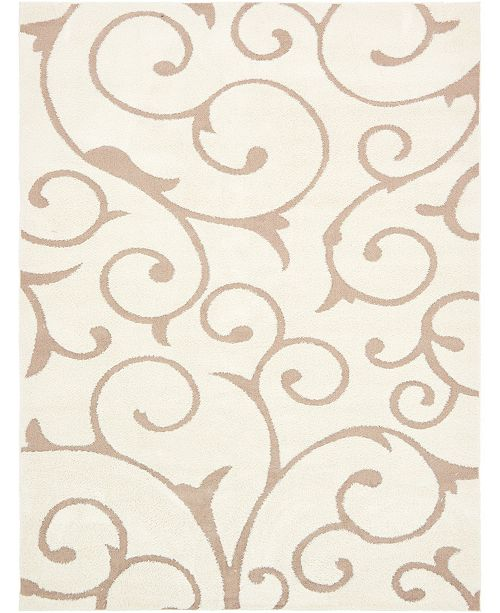 Bridgeport Home Malloway Shag Mal1 Ivory/Light Brown Area Rug Collection