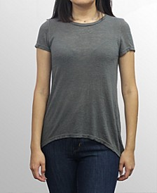 Womens Rayon Slub Jersey Scoop Neck Swing Tee