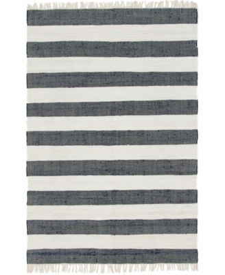 Jari Jar5 Navy Blue 5' x 8' Area Rug