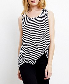 Womens Stripe Twist Tank