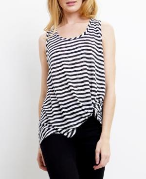 1804 Womens Stripe Twist Tank Top