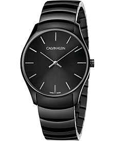 Unisex Classic Too Black PVD Stainless Steel Bracelet Watch 38mm