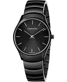 Unisex Classic Too Black PVD Stainless Steel Bracelet Watch 32mm