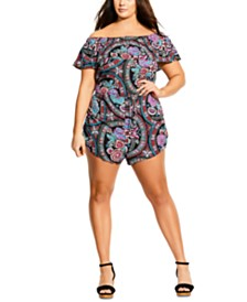 City Chic Trendy Plus Size Folklore Romper