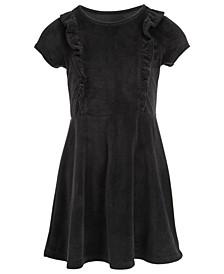 Toddler Girls Ruffle-Front Velvet Dress, Created For Macy's