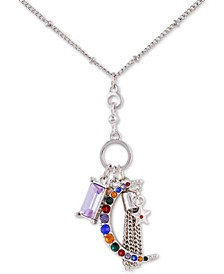 "Crystal Moon Charm Pendant Necklace Gift Set, 18"" + 2"" extender"