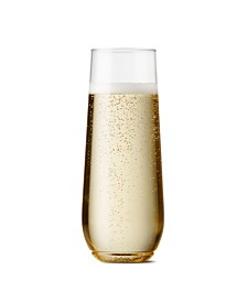 TOSSWARE POP 9oz Stemless Champagne Flute Glasses Set of 24