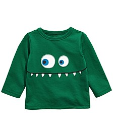 Baby Boys Monster Face Appliqué T-Shirt, Created For Macy's