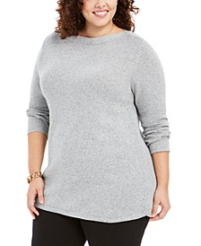 Plus Size Curved Hem Tunic, Created For Macy's