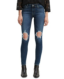 Levi's® Ripped Mid-Rise Jeans