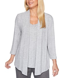 Alfred Dunner Sapphire Skies Layered-Look Top