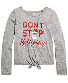 Big Girls Believing-Print T-Shirt, Created For Macy's
