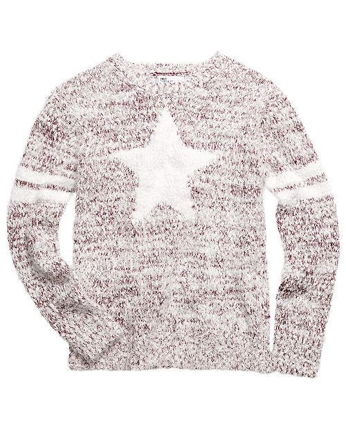 Epic Threads Big Girls Star Stripes Sweater, Created For Macy's