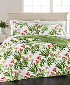 Tropical Floral Full/Queen Quilt, Created for Macy's
