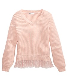 Big Girls Layered-Look Sweater, Created For Macy's