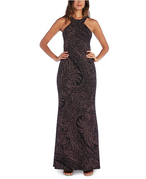Morgan & Company Juniors' Glitter-Knit Gown
