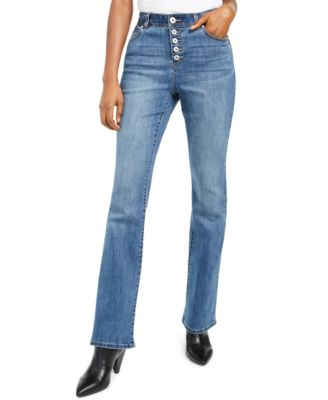 INC High Rise Button-Fly Bootcut Jeans, Created For Macy's