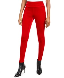 I.N.C. Velvet Pull-On Skinny Pants, Created For Macy's