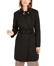 I.N.C. Faux-Suede Trench Coat, Created For Macy's