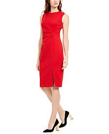 Calvin Klein Side-Ruched Sheath Dress