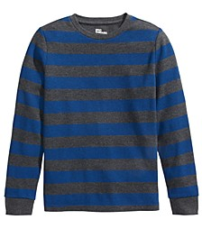 Big Boys Striped Thermal T-Shirt, Created For Macy's