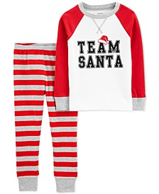 Toddler Boys 2-Pc. Cotton Team Santa Pajamas Set