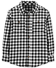 Big & Little Boys Cotton Gingham Check Button-Down Shirt