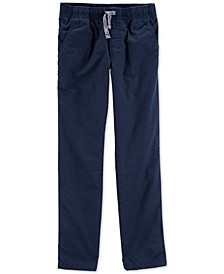 Little & Big Boys Navy Blue Poplin Play Pants