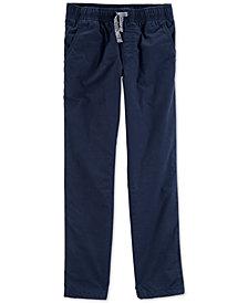 Carter's Little & Big Boys Navy Blue Poplin Play Pants