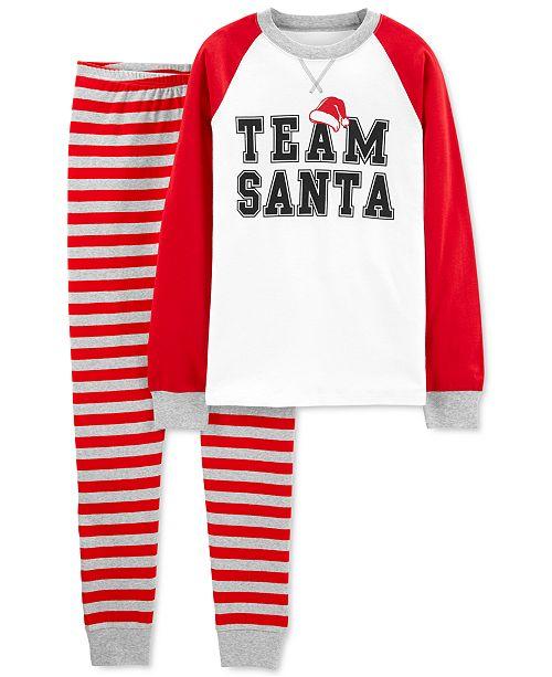 Carter's Adult Unisex Family Team Santa Cotton Pajamas Set
