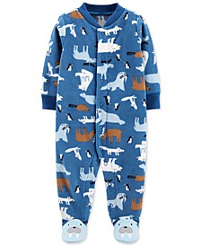 Baby Boys Footed Fleece Walrus Coverall