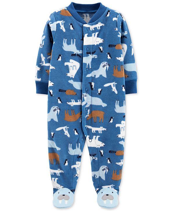 Carter's Baby Boys Footed Fleece Walrus Coverall
