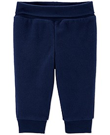 Baby Boys Navy Blue Fleece Pants