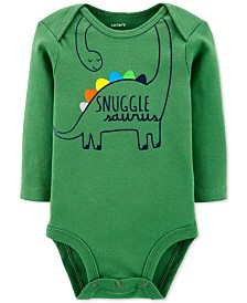 Carter's Baby Boys Dinosaur Snuggle Collectible Bodysuit