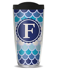 Scallop Pattern - F Double Wall Insulated Tumbler, 16 oz
