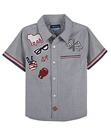 Baby Boy's Chambray W. Patches Short Sleeve Button-Down Shirt