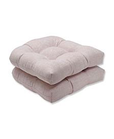 Sunbrella Chartres Rose Wicker Seat Cushion, Set of 2
