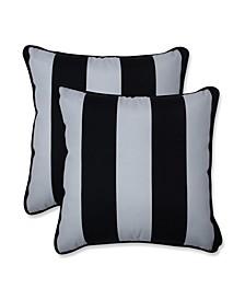 """Cabana Stripe 16"""" x 16"""" Outdoor Decorative Pillow 2-Pack"""