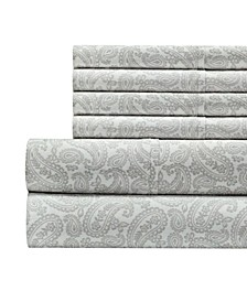 300 Thread Count with 2 Bonus Pillowcases, 6-PC Printed Queen Sheet Set