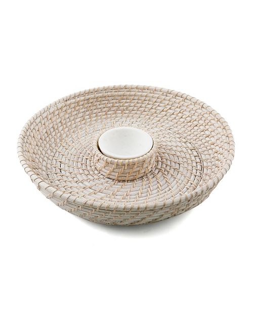 Thirstystone CLOSEOUT Rattan & Marble Chip N Dip
