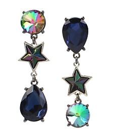 Betsey Johnson Stone & Star Mismatch Drop Earrings