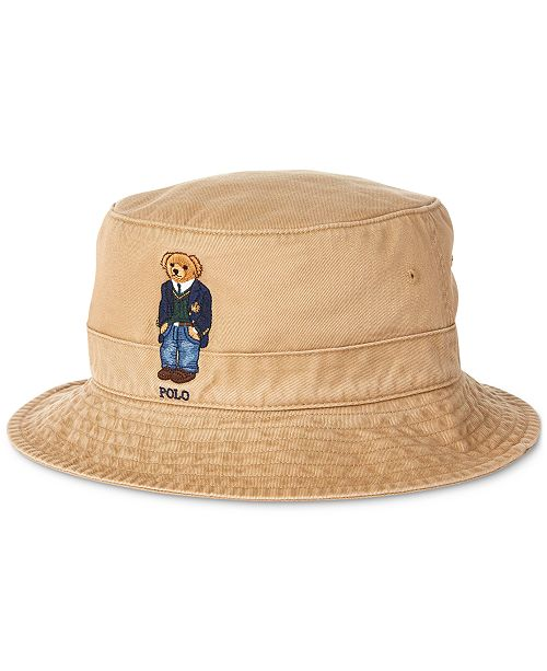 Polo Ralph Lauren Men's St. Andrews Bear Chino Bucket Hat