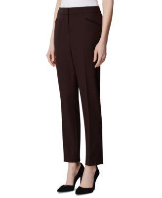 Petite Angled-Pockets Skinny Pants