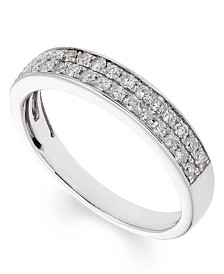 Certified Diamond (1/2 ct. t.w.) Band in 14K White Gold