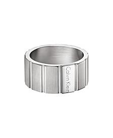 Plate Men's Stainless Steel Ring