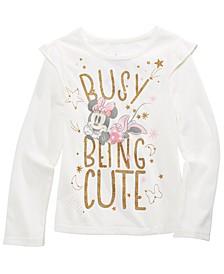Toddler Girls Busy Being Cute Glitter T-Shirt
