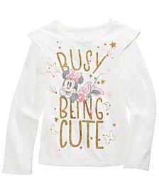 Disney® Toddler Girls Busy Being Cute Glitter T-Shirt